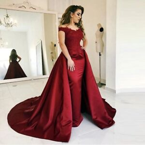 Details about Red Mermaid Prom Formal Gowns