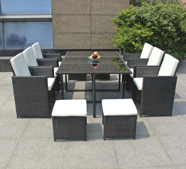 Poly Rattan Sitzgarnitur Lounge Gartenmöbel Gartengarnitur Gartenset Sitzgruppe