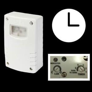 Daemmerungsschalter-Lichtsensor-IP44-automatisch-Lichtschalter-Schaltuhr-Uhr-230V