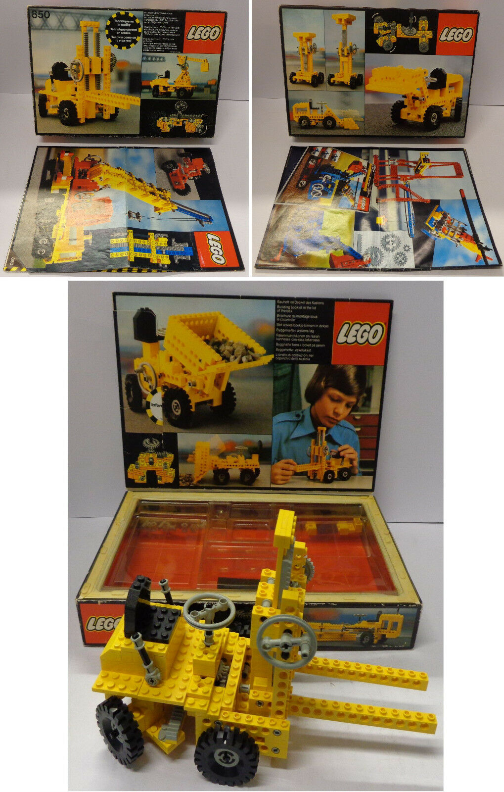 Game Gioco Play LEGO Technic 1977 Completo 850-1 Muletto - Fork-Lift Truck -