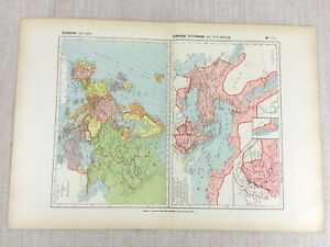 1888-Antique-French-Map-of-14th-Century-Europe-The-Ottoman-Empire-Historical