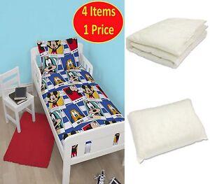 Disney mickey mouse polaroid junior 4 in 1 biancheria da letto bundle per culla ebay - Biancheria letto disney ...