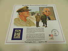 History of America in Stamps MacARTHUR REMOVED FROM COMMAND 1986 Postal Panel