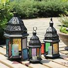 Metal Castle Moroccan Votive Candle Holder Hanging Lantern Home Centerpieces