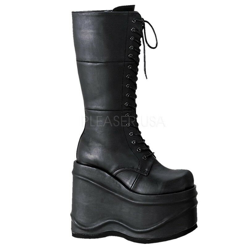 Demonia Goth punk Cyber Veggie plataforma-botas plataforma-botas Veggie Wave - 302 49265a