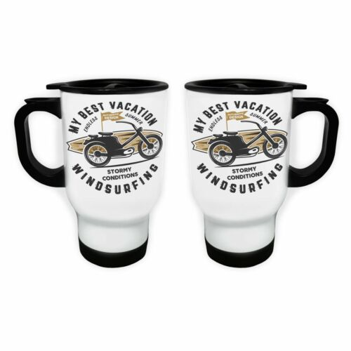 Windsurfing Stormy Conditions White//Steel Travel 14oz Mug ee285t