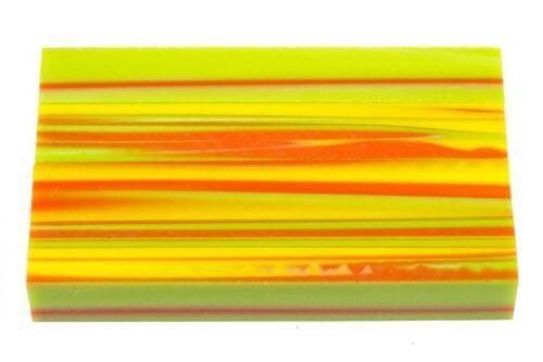 """1 pc Melon Stripes Acrylic Pen Blank 3//4/""""x3//4/""""x5/"""" BTWPBM1048"""
