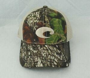 b6e61c6774 COSTA DEL MAR Mesh Hat CAMO STONE Adjustable Velcro Closure 6-Panel ...