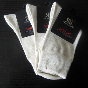 3-Paar-Damen-Socken-ohne-Gummi-mit-extra-weichem-Softrand-natur-melange-35-42