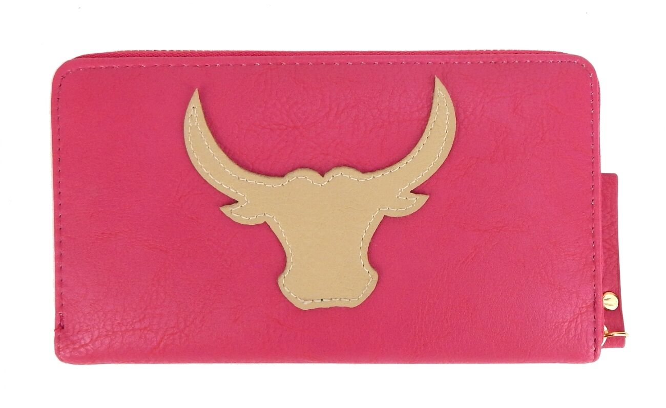 Ella Jonte Flamingo Geldbörse türkis pink Lack Rundum Zipper Portmonee Longbörse