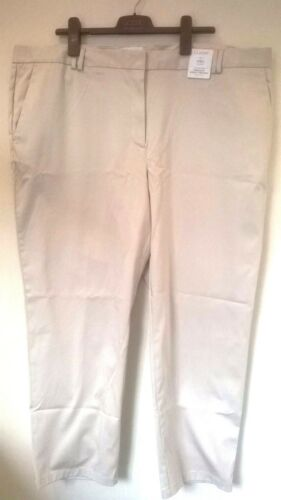 Marks /& Spencer Classic Cotton Ankle Grazer trousers UK 24 Eur 52 REGULAR BNWT