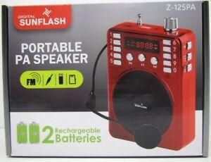 Z126BT Digital Sunflash Bluetooth Portable PA Speaker