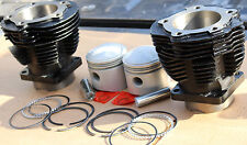 "74"" Harley Knucklehead Cylinder & Piston Set W 3 Piece Oil Ring Set Quality #416"
