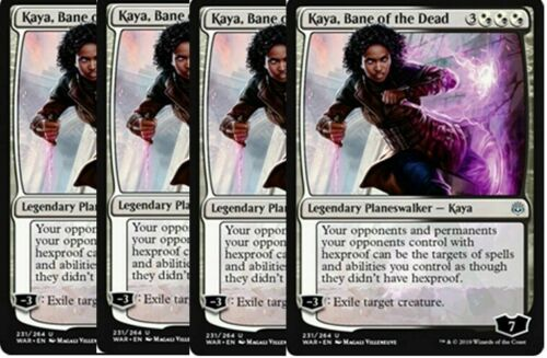 War of the Spark Gold Uncommon Bane of the Dead 4x Kaya NM