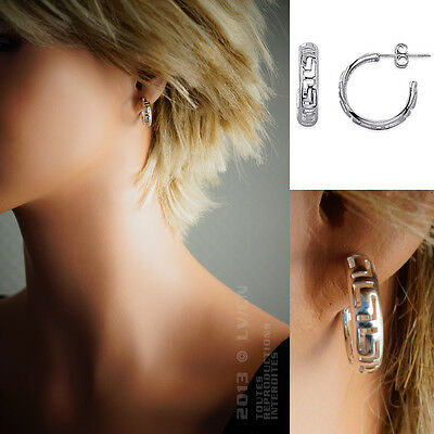 BOUCLES d'oreilles maille GREC en ARGENT 925 - 1327000 - BigBang-Bijoux.com