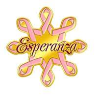 Breast Cancer Spanish Pin Pink Ribbon Esperanza Promote Awareness