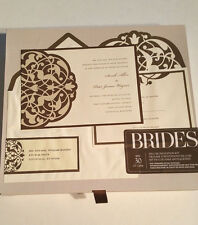 Item 2 BRIDES Deluxe Wedding Invitation Kit 30 Ct Brown/Ivory Flourish  *NEW*  BRIDES Deluxe Wedding Invitation Kit 30 Ct Brown/Ivory Flourish *NEW*