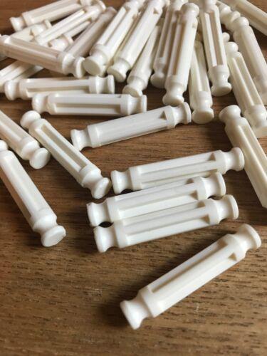 50 White Rods For K'nex 32mm.