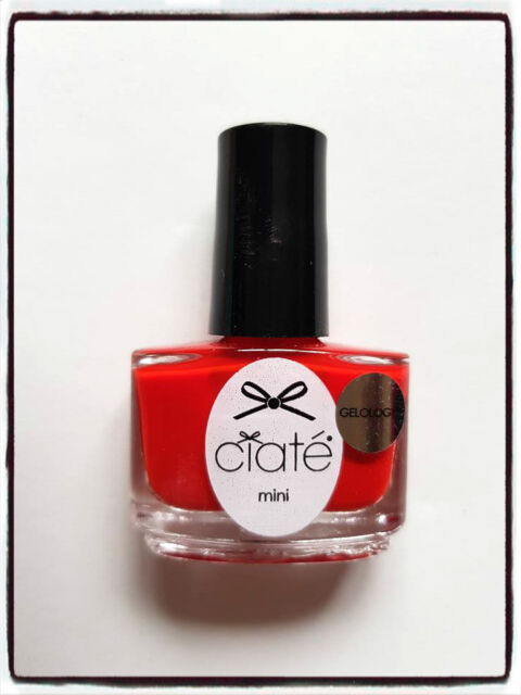 Ciate Gelology Mistress Bright Red Colour Mini Nail Varnish Lacquer