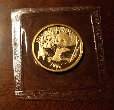 China 2005 Gold 1//10 oz Panda 50 Yuan Original Mint Sealed BU