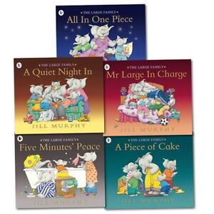 Large-Family-Collection-Jill-Murphy-5-Books-Set-Children-illustrated-Flats