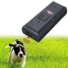 Sonido ultrasónico corteza deja de entrenamiento perro mascota Repelente Entrenador De Entrenamiento Obediencia