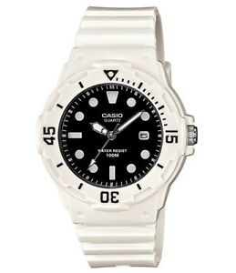 Casio-Watch-LRW200H-1E-Diver-Look-100WR-White-w-Black-Face-Women-COD-PayPal