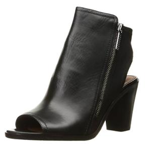 Donald J Pliner - Kaden-01D - Open Toe Bootie - Black Leather - 8.5M - NEW