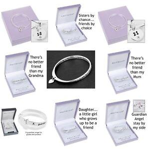 Equilibrium-Silver-Plated-Sentimental-Message-Bangle-Bracelet-Gift-Boxed