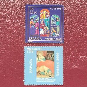 España año 2000 NAVIDAD Nº 3769 y 3770 MNH