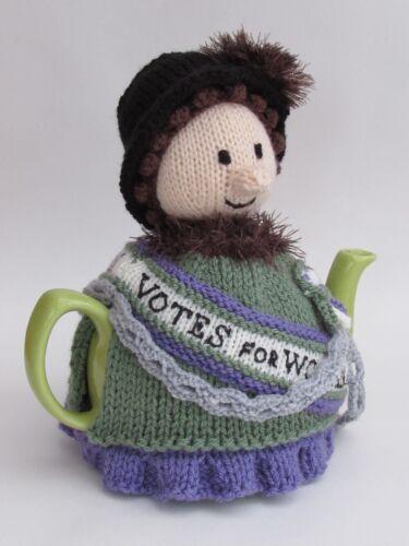 Votes for women Suffragette Tea Cosy Knitting Pattern Knit votre propre