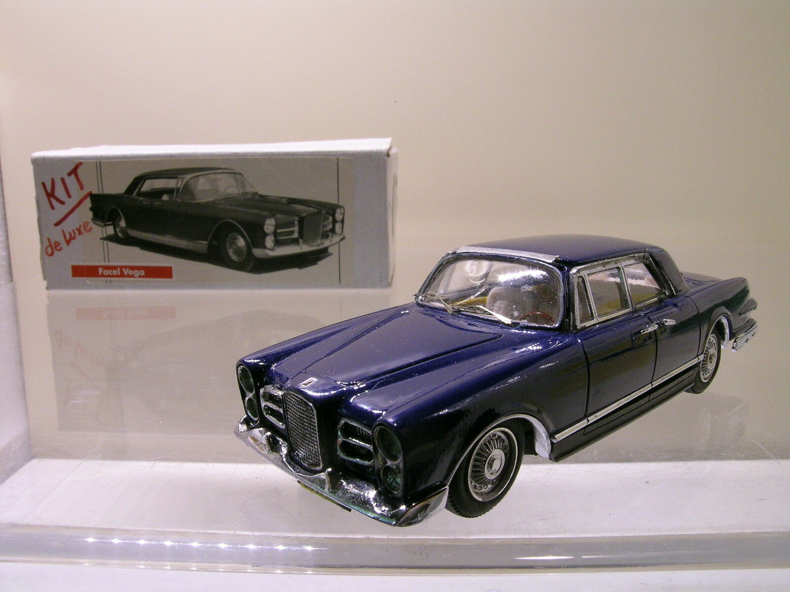 JPS MINIATURES KP191 FACEL VEGA EXCELLENCE blu RESIN HANDBUILT BOX SCALE 1 43