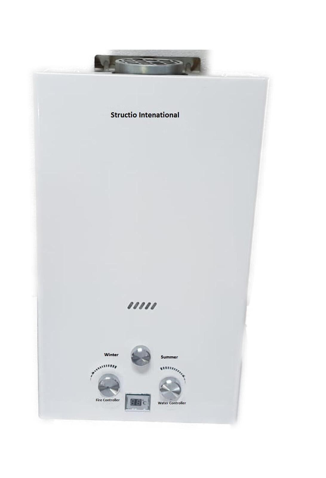 Gas calentador continuo calentador de agua calefones gastherme soportable camping ducha 10 L
