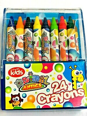 Wax Crayons 24 Pack Kids Colouring Set Kids Fun Crafts Crayons