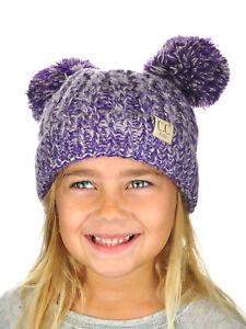 db6da3ed6d9 New! C.C Kids  Children s Cable Knit Double Ear Pom Cuffed CC Beanie ...