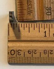 Vintage Antique Metal Printer Printing Press Block Tiny Letter F 7668b