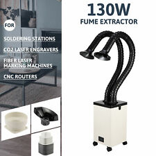 130w 2 Intake Fume Extractor 3 Filter Air Purifier For Laser Engravers And More