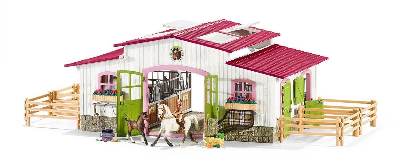 Schleich horse club 42344 - granja con cotingidae y caballos ecuestre