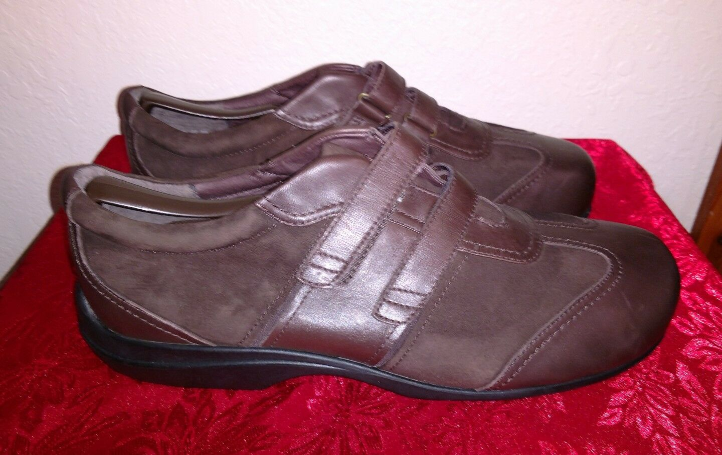 Mens PW Minor Sienna Brown Leather Orthopedic shoes 33730 Chocolate Sz 12 3W