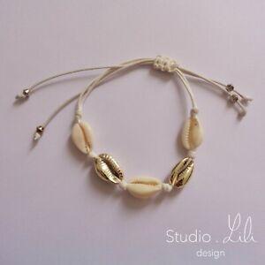 Bracelet-coquillage-cordon-blanc-Studio-LiLi