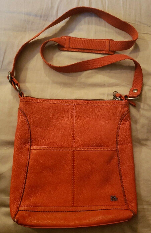 The SAK Leather Crossbody Bag Handbag Purse Beautiful Salmon