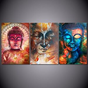 Image Is Loading Modern Buddha Painting Print Wall Art Canvas Head