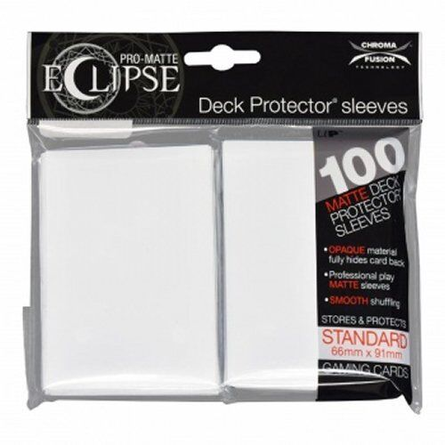 Deck Box 100 White Ultra Pro Standard Pro Matte Deck Protector Card Sleeves