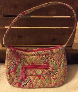 49c6c0b237e8 Image is loading Vera-Bradley-Purse-Capri-Melon-Retired-Pink-Paisley-