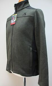 Men S Zeroxposur Fleece Jacket Full Zip Coat Blue Grey