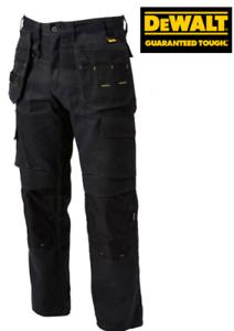 "DEWALT PRO TRADESMAN HOLSTER POCKET WORK TROUSERS BLACK WAIST 32/"" LEG 32/"""