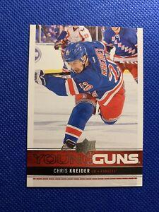 2012-13-Upper-Deck-CHRIS-KREIDER-Young-Guns-Rookie-RC-237-New-York-Rangers