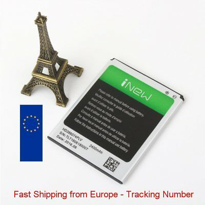 New Battery 2400mAh for iNew V8 HD386074PLV - Fast Shipping from Europe