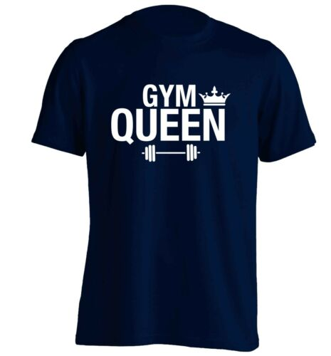 gym queen t-shirt workout fitness weights healthy matching hipster slogan 5860