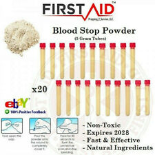 Blood Clot Powder - 100% Organic Medical Blood Stop Powder - 20 Pack - NON TOXIC